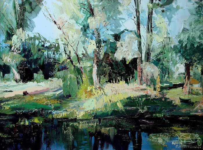 Romanow Vladimir - 'Sun in the Forest'