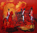 Romanow Vladimir - 'Trick Riding in Red'