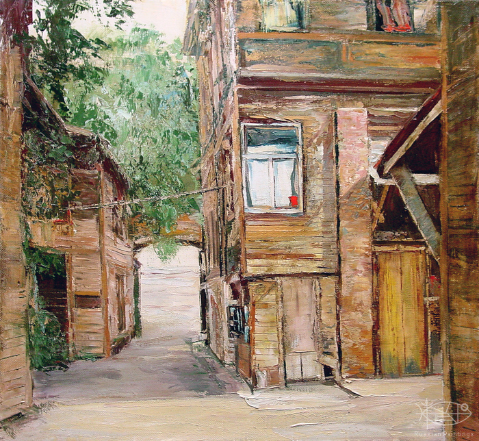 Romanow Vladimir - 'Walk-through Yard'