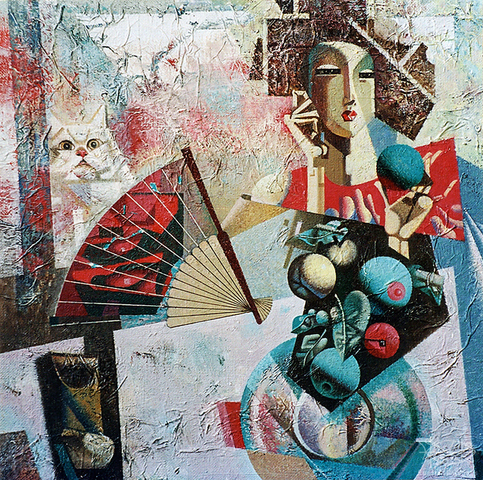 Rostotskiy Valeriy - 'Lady with Fan'