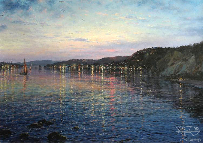 Sarychev Alexander - 'Evening on the Coast'