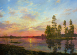 Sarychev Alexander - 'Sunset on the Kurya River'