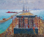 Schesnyak Viktor - 'Pier. The Crimean Bridge'