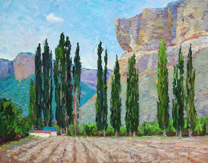 Schesnyak Viktor - 'Poplars of the Alimovа Arroyo'