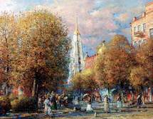 Shevelev Alexander - 'Autumn on the Kazanskaya Street'