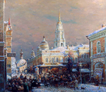 Shevelev Alexander - 'Bazaar on the Red Square'