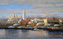 Shevelev Alexander - 'Cathedral and Commodity Exchange. Autumn'
