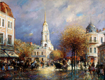 Shevelev Alexander - 'The Red Square in Rybinsk'