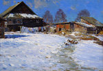 Shevelev Alexander - 'Winter Day in Village'