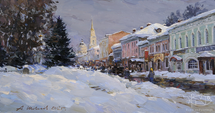 Shevelev Alexander - 'Winter on the Embankment'