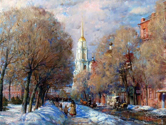 Shevelev Alexander - 'Winter on the Kazanskaya Street'