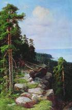 Shishkin Ivan - 'Above the Waterfront'