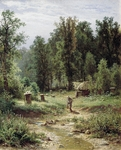 Shishkin Ivan  - 'Apiary in the Wood'