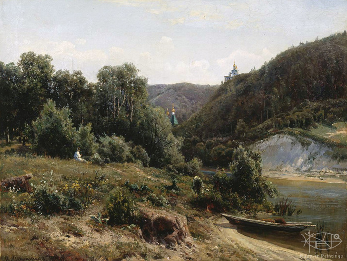 Shishkin Ivan - 'At the Monastery'