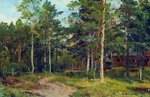 Shishkin Ivan  - 'Autumn Landscape. The Path in the Woods'