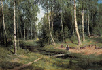 Shishkin Ivan  - 'Brook in the Birch Forest'