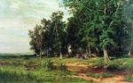 Shishkin Ivan - 'During the Mowing in an Oak Grove'
