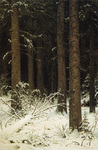 Shishkin Ivan  - 'Fir Forest in Winter'