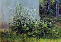 Shishkin Ivan - 'Flowers at the Fence'