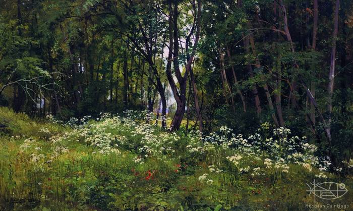 Shishkin Ivan - 'Flowers on the Edge of the Forest'