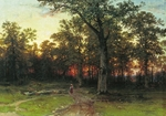 Shishkin Ivan - 'Forest in Evening'