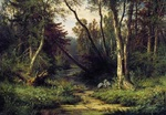 Shishkin Ivan - 'Forest Landscape with Herons'