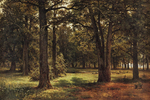 Shishkin Ivan - 'In the Reserved Oak Grove of Peter the Great (in...'