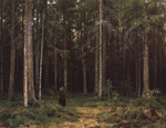 Shishkin Ivan - 'In the Wood of the Countess Mordvinova. Peterhof'