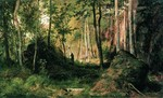 Shishkin Ivan - 'Landscape with a Hunter. The Valaam Island'