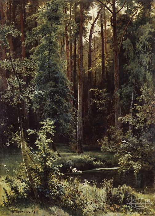 Shishkin Ivan - 'Landscape with the Forest Lake'