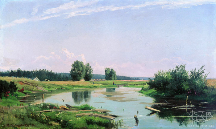 Shishkin Ivan - 'Landscape with the Lake'