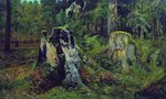 Shishkin Ivan - 'Landscape with the Stump'