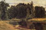 Shishkin Ivan - 'Pond in a Old Park'