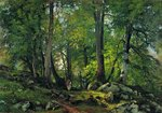 Shishkin Ivan - 'The Beech Wood in Switzerland'