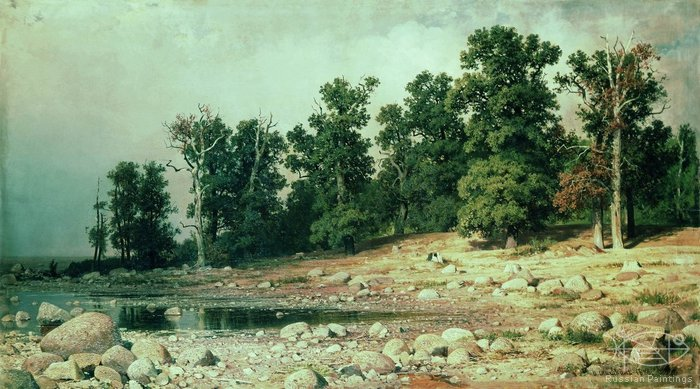 Shishkin Ivan - 'The Сoast of the Petrovskaya Grove in Sestroretsk'