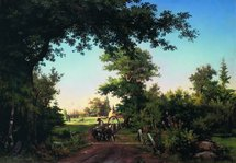 Shishkin Ivan - 'View in the Outskirts of St. Petersburg'