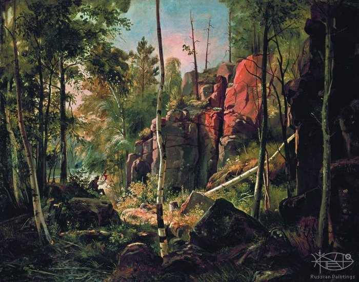 Shishkin Ivan - 'View on the Valaam Island (the Cucco Area)'