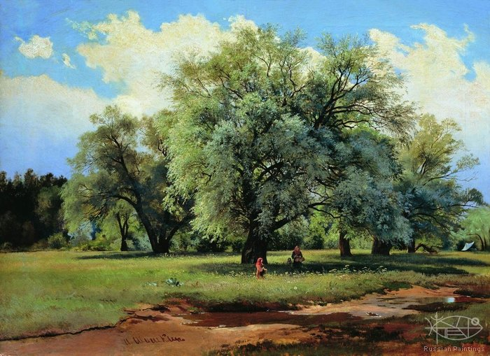 Shishkin Ivan - 'Willows Lit by the Sun'