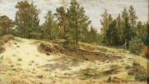 Shishkin Ivan - 'Young Pines near the Sandy Cliff. Mary Howie on the Finnish Railway'