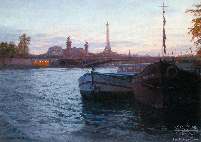 Wedernikow Boris - 'Evening on the Sena'