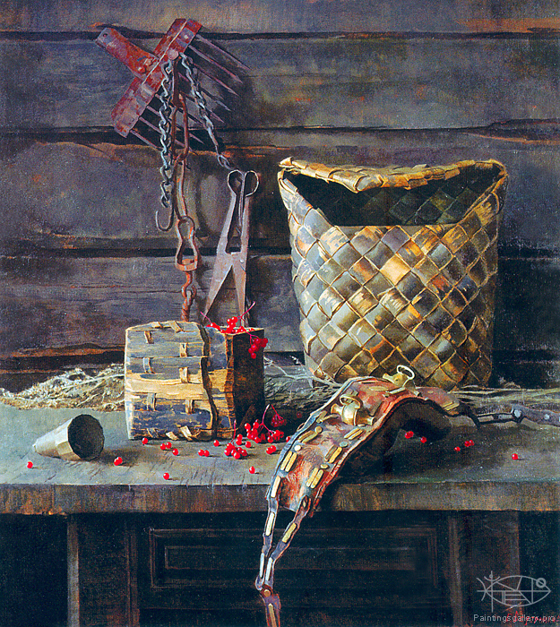 Wedernikow Boris - 'Still Life with Guelder-rose'