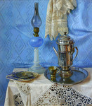 Wedernikow Boris  - 'Still Life with Lamp'