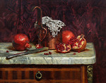 Wedernikow Boris  - 'Still Life with Pomegranates'