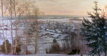 Wedernikow Boris - 'Winter in Russian Village'