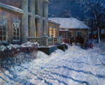 Wedernikow Boris  - 'Winter Night. M.P. Musorgkiy's Estate'